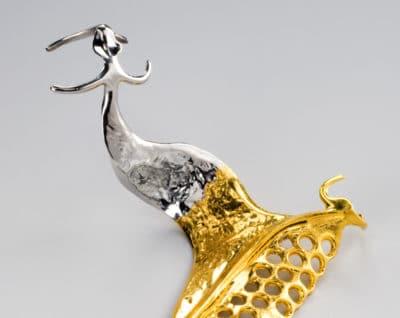 Modellguss-Vergoldung: Galvanische Hartvergoldungen einer Modellguss-Prothese (99,99% Feingold) mit optimalem Haftverbund